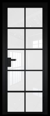 Межкомнатная дверь AG - 4 черный, белый триплекс