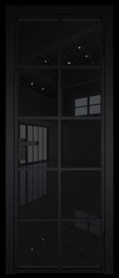 Межкомнатная дверь AG - 4 черный, черный триплекс