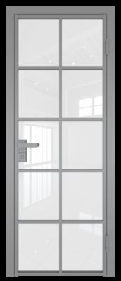 Межкомнатная дверь AG - 4 серый, белый триплекс