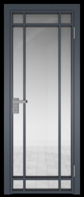 Межкомнатная дверь AG - 5 антрацит, прозрачное