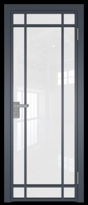 Межкомнатная дверь AG - 5 антрацит, белый триплекс