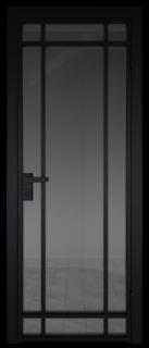 Межкомнатная дверь AG - 5 черный, планибель графит