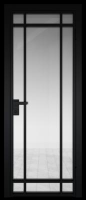 Межкомнатная дверь AG - 5 черный, прозрачное