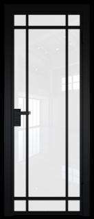 Межкомнатная дверь AG - 5 черный, белый триплекс