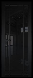 Межкомнатная дверь AG - 5 черный, черный триплекс