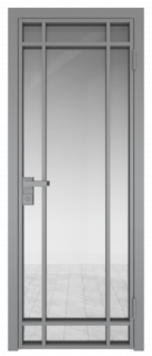 Межкомнатная дверь AG - 5 серый, прозрачное