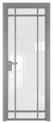 Межкомнатная дверь AG - 5 серый, белый триплекс