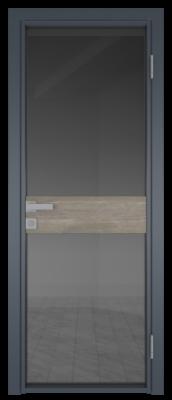 Межкомнатная дверь AG - 6 антрацит, планибель графит