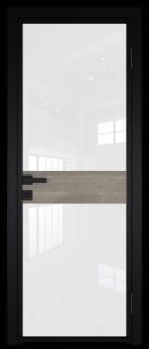 Межкомнатная дверь AG - 6 черный, белый триплекс