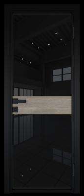 Межкомнатная дверь AG - 6 черный, черный триплекс