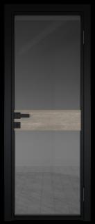 Межкомнатная дверь AG - 6 черный, планибель графит