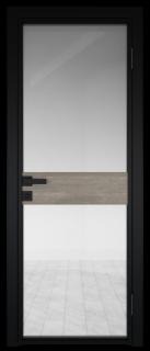 Межкомнатная дверь AG - 6 черный, прозрачное