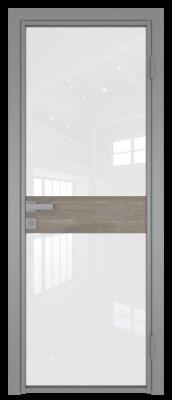 Межкомнатная дверь AG - 6 серый, белый триплекс