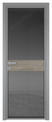 Межкомнатная дверь AG - 6 серый, планибель графит