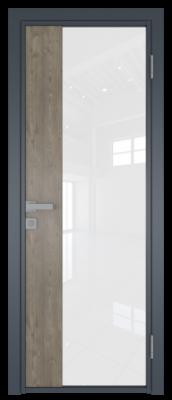 Межкомнатная дверь AG - 7 антрацит, белый триплекс