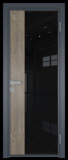 Межкомнатная дверь AG - 7 антрацит, черный триплекс