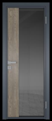 Межкомнатная дверь AG - 7 антрацит, планибель графит