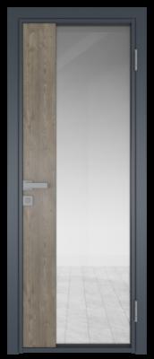 Межкомнатная дверь AG - 7 антрацит, прозрачное