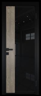 Межкомнатная дверь AG - 7 черный, черный триплекс