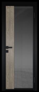 Межкомнатная дверь AG - 7 черный, планибель графит