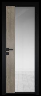 Межкомнатная дверь AG - 7 черный, прозрачное