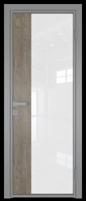Межкомнатная дверь AG - 7 серый, белый триплекс