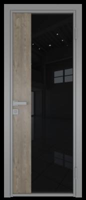 Межкомнатная дверь AG - 7 серый, черный триплекс
