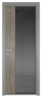 Межкомнатная дверь AG - 7 серый, планибель графит