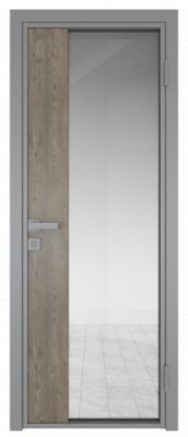 Межкомнатная дверь AG - 7 серый, прозрачное