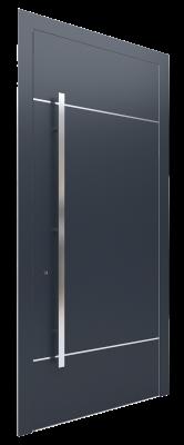 Входная дверь AL - 1 серый графитовый