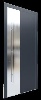 Входная дверь AL - 3 серый графитовый