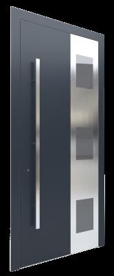 Входная дверь AL - 4 серый графитовый