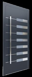 Входная дверь AL - 6 серый графитовый