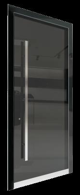Входная дверь AL - GLASS, Stopsol серый