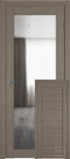 """Межкомнатная дверь """"Атум PRO Х32"""", зеркало, Brun Oak"""