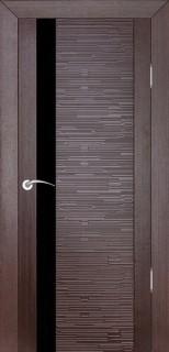 """Межкомнатная дверь """"Д4 техно"""", по, венге"""