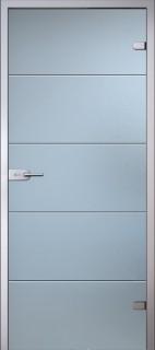 Стеклянная дверь Диана белое Сатинато