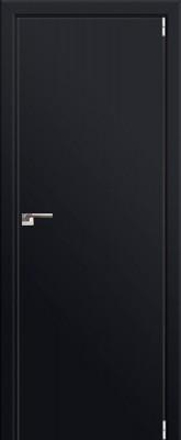 "Межкомнатная дверь ""1 Е"", Черный матовый, мат. с 4-х сторон"