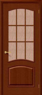 """Межкомнатная дверь """"Капри 3"""", по, темный орех"""