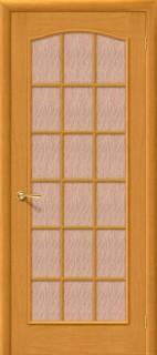 """Межкомнатная дверь """"Капри 4"""", по, дуб натуральный"""
