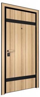 Входная дверь AL - LITE 3, кокоболо