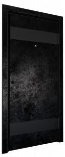 Входная дверь AL - LITE 4, черный