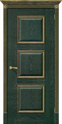 """Межкомнатная дверь """"Триест"""", пг, зеленый с золотом"""