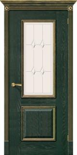 """Межкомнатная дверь """"Триест"""", по, зеленый с золотом"""