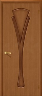"""Межкомнатная дверь """"Флора"""", пг, орех"""