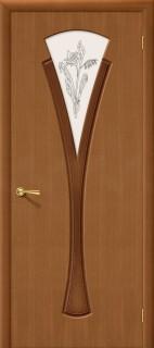 """Межкомнатная дверь """"Флора"""", по, орех"""