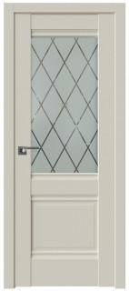 Межкомнатная дверь 2U, магнолия сатинат, ромб