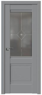 Межкомнатная дверь 2U, манхэттен, фьюзинг