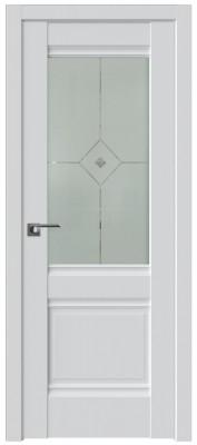 Межкомнатная дверь 2U, аляска стекло фьюзинг