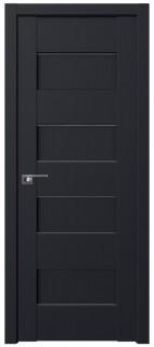Межкомнатная дверь 45U, черный матовый